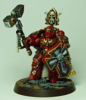 Blood Angel Captain by cyphercodicer2