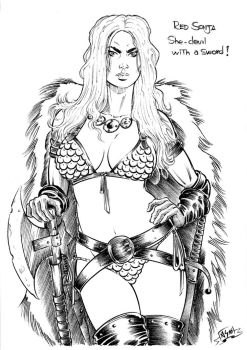 Red Sonja (sketch) by Area283