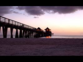 Naples Pier Sunset by the-toad