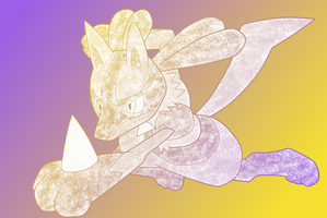 My 2nd Lucario-Coloration by Black-Lugia
