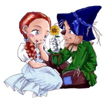 dorothy and scarecrow by cokeacolabear101
