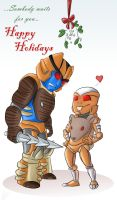 DinoTrap Xmas card 2010 by AshinGale-Effect