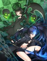 Black Rock Shooter vs. Dead Master by f-wd