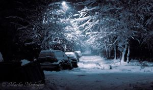 My street at winter by mmirkovic