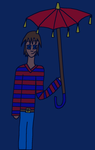 Kyle's Red Umbrella by Sirairial