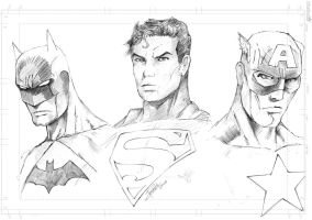 Super Heroes (pencils) by J-Rayner