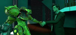 Metroid X Doctor Who: Samus Meets The Doctor by Varia31
