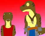 A.T.: You like Rexy, don't you, Niisan? by DinoLover09