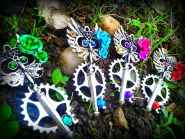Rainbow Owl Fantasy Keys by Starl33na