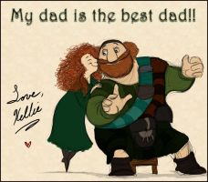 Happy Father's Day - Merida and Fergus by Mitch-el