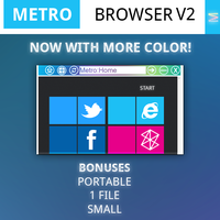 Metro Web Browser V2 by Grimmdev