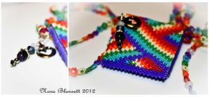 Rainbow Amulet Bag Necklace and Matching Bracelet by NoraBlansett