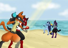 Hanging out on the beach by Kuro-No-Yuki