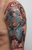 samurai tattoo WIP2 by graynd