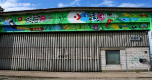 CONVERSE MURAL - WALL TO WALL by laresistance
