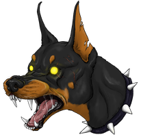 Angry Doberman by Spirit-Of-Alaska