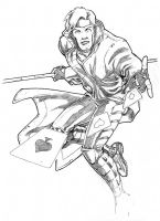 Gambit, Commission Sketch by Guy-Bigbelly