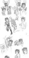 Old Loki Sketch Dump by Doodlinjaz