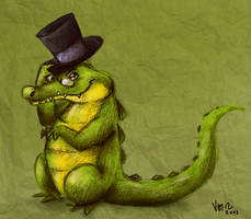 Mr. Crocodile by karpfinchen