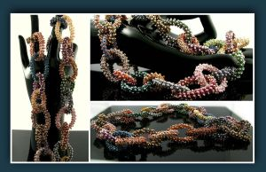 Wire crochet loop necklace - Confetti loops by CatsWire