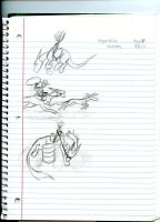Dragon Rodeo sketches by Dinoboy134