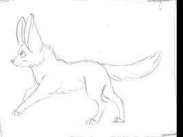 First animated sketch .TEST. + Running Fennec + by x-Mlice