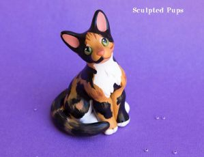 Calico kitty sculpture commission by SculptedPups
