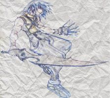 riku on paper by GDMonster