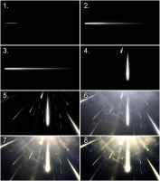 Meteor Shower Before and After by txvirus