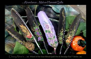 Mabon Harvest Quill Pens by ChaeyAhne