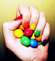 Colorful hand by Alicss