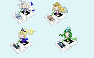 Final Fantasy IV DS Chibis by KaleaJade