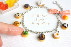 Halloween Donuts and Candy Corn Charm Bracelet by LaNostalgie05