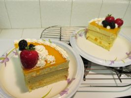 Mango Mousse Cake SLice by rltan888