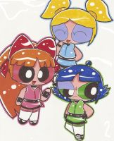 Powerpuff Girls Neon by Webfriends246