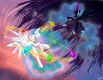Celestia and Nightmare Moon by SuperRobotRainbowPig