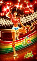 Roller Girl in color by Andora
