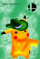 Green Team Pikachu by BlueySerperior