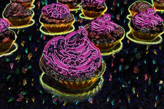 Cupcakes from outer space by Fahraday-x