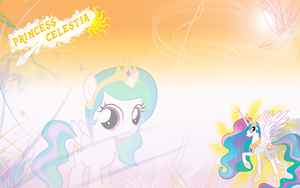 FiM: Celestia Wallpaper by M24Designs