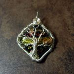 Wire Wrap Fused Glass Tree of Life Pendant by Create-A-Pendant