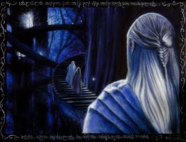 The stairs of Lothlorien by Gwillieth