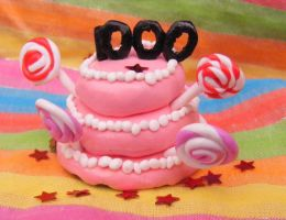 1000th Member Cake by Charlotte-Holmes