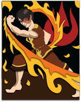 Shadowbox Mock-up:  Zuko by The-Paper-Pony