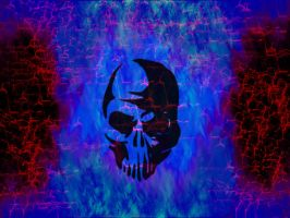 Blue Fire Skull and such... by Barrin84