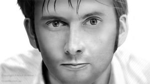 David Tennant - Dr Who by DrawMeDotComDotAu
