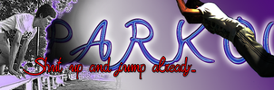 Parkour Banner by miwaoftheunknown