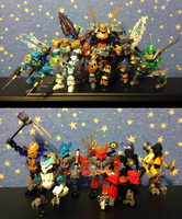 My Bionicle 2015 collection (sans spiders). by DjPavlusha