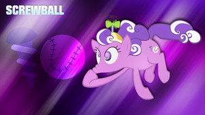 Screwball wallpaper with cutie mark by JamesG2498