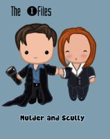 X files Chibis by KazyKelly